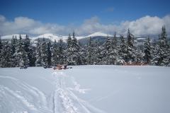 Výhled na sněžku z Černé Hory